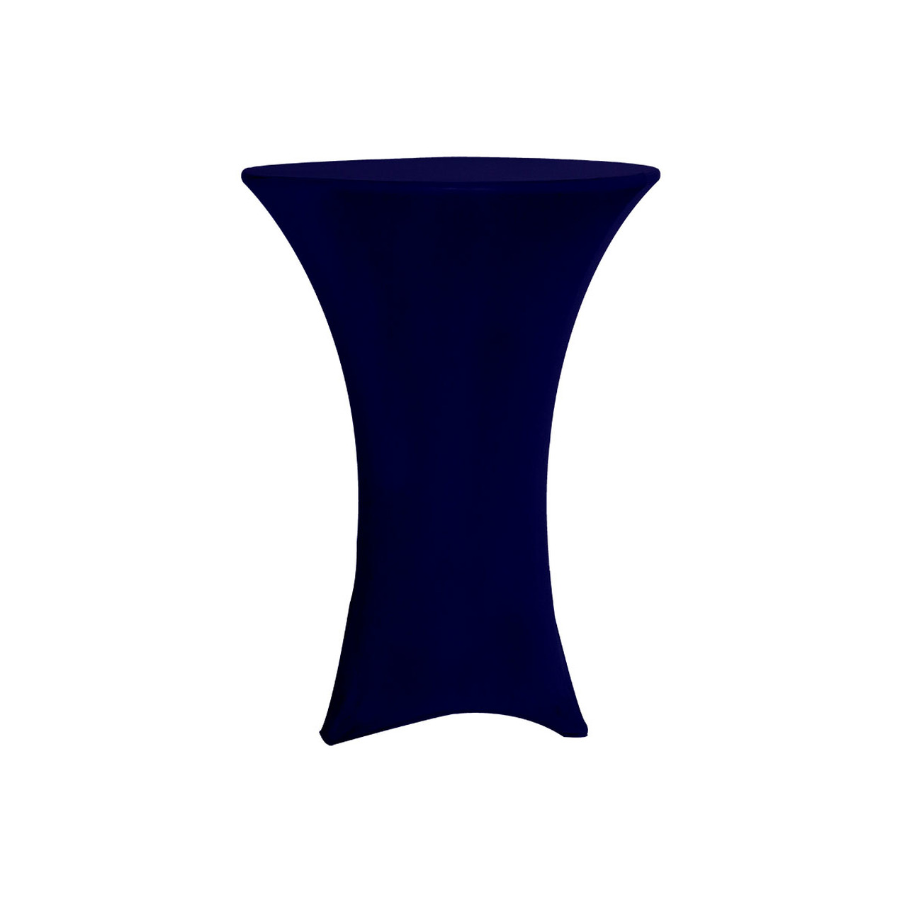SPANDEX TABLE COVER NAVY BLUE