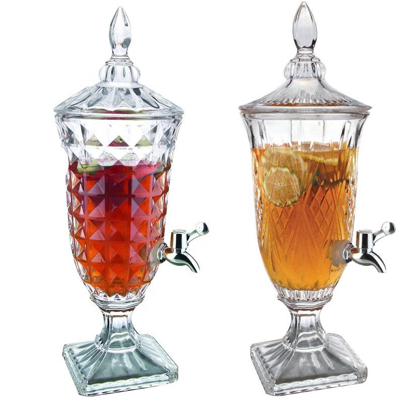 Диспенсер для напитков из хрустального стекла